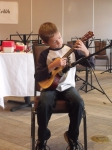 Cam Smith - the youngest participant at the 2013 Ceilidh performing at the Open Mike