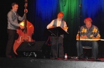 Aaron Keim, Ken Middleton, Gerald Ross during Ken's set at the Friday evening concert