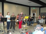 University of Maine at Machias Ukulele Club at the Thursday concert